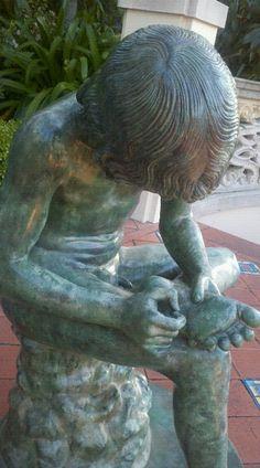"Greek sculpture called ""Spinario"" Boy With Thorn"
