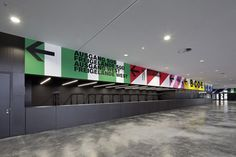 innsbruck exhibition centre signage system by dutch firm Büro Uebele