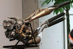 Honda NSR500 - a 500cc V-4 2 stroke Grand Prix motorcycle engine - wicked