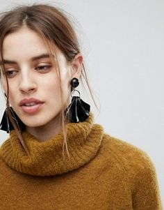 Картинки по запросу ASOS Abstract Face Drop Earrings