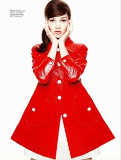 Ahoy hoy!: Mod Rules for Glamour UK Dying over this red coat!