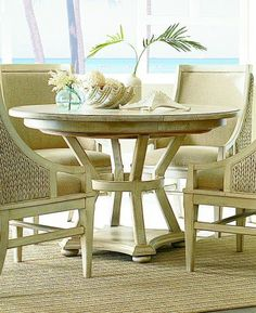 americana home roundoval pedestal dining table weathered white american drew