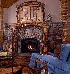 I want a huge fireplace like at Cracker Barrel. With a huge hearth ...