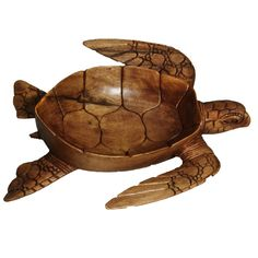 Hand-Carved Wooden Decorative Turtle Bowl (Indonesia) | Overstock.com