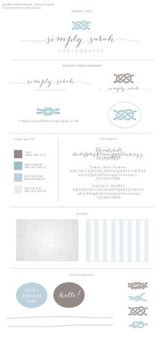 Business Identity, Branding, Photography, Nautical, Blue, Dusk, Grey, Bombshell, Calligraphy, Logo, Knot.  Branding Board by Elizabeth Andres Designs in Dubai.