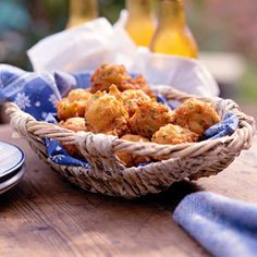 Mississippi Hush Puppies. This is a favorite of the Catfish Institute in Belzoni, Mississippi. Substituting beer for milk makes these lighter and tangier.