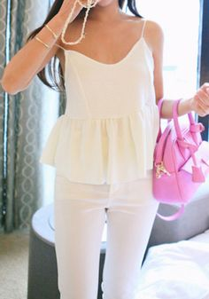 Flounce Crop Top - Beige. Party lovers shouldn't miss having this flounce crop top in their wardrobes.