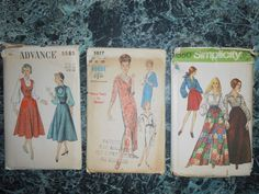 Vogue Simplicity  and  Advance patterns by MinaLucinda on Etsy, $15.00