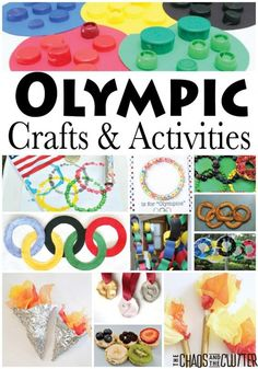 Olympics Crafts and Activities and lots of ideas to get your kids engaged