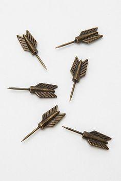 how cute are these arrow push-pins!? #arrow #pin