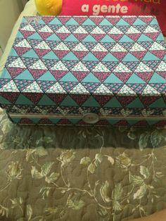 Caixa de sapato decorada