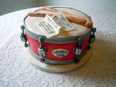 Flickr Music Themed Cakes, Music Cakes, Beautiful Cakes, Amazing Cakes, Cake Cookies, Cupcake Cakes, Drum Cake, Sculpted Cakes, How To Play Drums