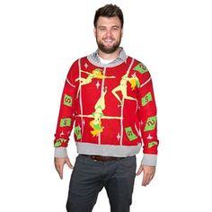 Pole Dancing Elves Adult Ugly Christmas Sweater - 408162 | trendyhalloween.com Men's Costumes, Halloween Costumes, Cool Suits, Suits You, Elf Dance, Trendy Halloween, Bikini Clad, Scary Clowns, The Elf