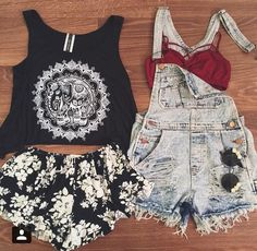Jumpsuit crop top and shorts with crop top