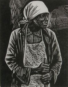 Elizabeth Catlett was an amazing printmaker and sculptor who recently died at age 96 after making beautiful works of art for 70 years. This piece, called Survivor, is one of my favorites. Nice tribute to the artist on the Woodblock Dreams blog.