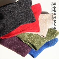 Яркие носки * Яркий лук зеленый фиолетовый черный рубиновый синий * Короткие трубки супер блестящие короткие трубки женские носки