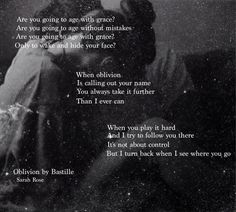 oblivion bastille song lyrics