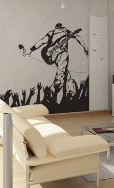 Rockstar On Stage - uBer Decals Wall Decal Vinyl Decor Art Sticker Removable Mural Modern A230 on Etsy, $52.94