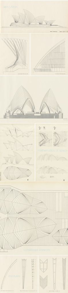 The spectacular drawings for the Sydney Opera House, Jørn Utzon (project)