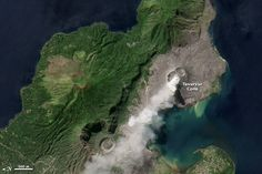 Ash Plume Rises from Rabaul Volcano