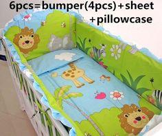 Promotion! 6PCS baby bedding set