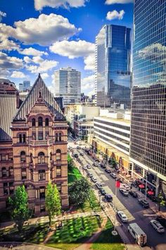 Photo was taken from the Arcadian Loft over looking the Old City Hall of Toronto and the Eaton Centre. Places Around The World, Oh The Places You'll Go, Around The Worlds, Montreal, Vancouver, Canada Pictures, Downtown Toronto, Photos Voyages, Toronto Canada
