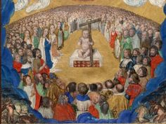 Baby and the crowd. Miniature with the Adoration of the Holy Name. South Netherlandish, ca 1530