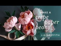 Crepe Paper Coral Charm Peony: How to Make Paper Peony Flower Making Tissue Paper Flowers, Paper Flower Wreaths, Paper Flowers Craft, How To Make Paper Flowers, Crepe Paper Flowers, Paper Flower Backdrop, Flower Making, Paper Crafts, Diy Crafts