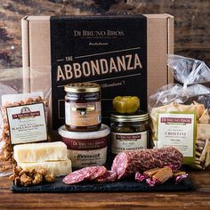 Abbondanza Gift Box | Gourmet Gift Basket | Meat and Cheese