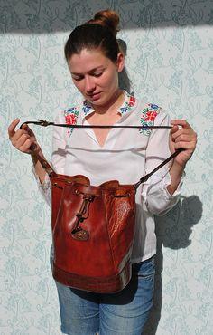 Leather bag leather bag womens letaher bucket bag letaher