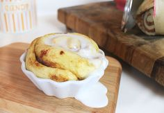 Microwave Single Serve Cinnamon Roll
