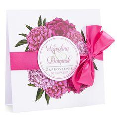 Zaproszenia ślubne z kwiatem Peonii w2