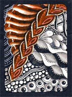 Lily's Tangles: Zentangle@  - #DRAW #ZENTANGLE #ZENDALA #TANGLE #DOODLE #COLOR #COLOUR #FARBE