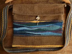 Handwoven Tapestry Shoulder Bag Naturally Dyed by tomasenweinbaum,