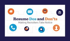 """When it comes to getting your resume noticed, there's a lot of information out there. But what about your resume in a recruiter's eyes? Akkencloud has created an infographic entitled """"Resume Dos and Don'ts: Making Recruiters Take Notice,"""" giving you the inside scoop on how to keep your resume out of the reject pile at a recruiter's office. From what stands out in a resume, to red flags that give recruiters the shivers, this infographic has tips and tricks to fine-tune and polish you..."""