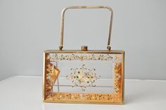 50s Handbag // 1950s Tyrolean Hand Painted by OffBroadwayVintage