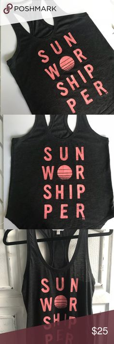 VICTORIAS SECRET TANK Awesome t-back tank VS. says it all. Ready for the sunshine☀️☀️☀️worn once EUC. Great for a day in the sun! Victoria's Secret Tops Tank Tops