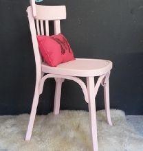 chaise de bistrot Baumann rose poudré
