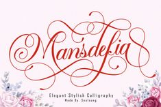 Mansdefia is a sweet script font with a classic style and a touch of elegance, inspired by the handwriting of... Script Typeface, Modern Script Font, Calligraphy Fonts, Wedding Script, Free Fonts Download, Glyphs, Lowercase A, Hand Lettering