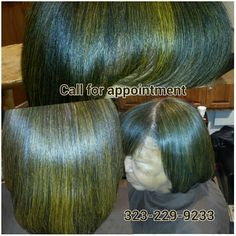 Healthy hair with color