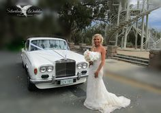 Beautiful bride, beautiful wedding car
