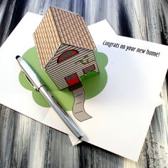 Items similar to New Home Greeting Card - Pop Up House Greeting Card on Etsy Pop Up 3d, Kirigami Templates, New Home Greetings, Paper Pop, Walmart Deals, Up House, House Of Cards, Funny Cards, Popup
