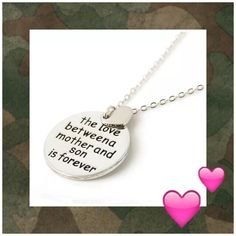 """Mother Son Pendant Necklace with heart charmNEW Mother/Son pendant necklace hopefully heart charm says """"the love between a mother and son is forever"""" brand-new necklace packaged and sealed!reduced! Son  Jewelry Necklaces"""