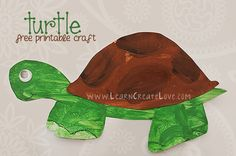 Printable Box Turtle Craft | LearnCreateLove.com
