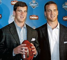 peyton manning new images | Eli Manning, center, and Peyton Manning, right, during a news ...