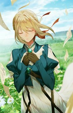 Image about cute in Violet Evergarden by Naho Sad Anime, Anime Life, Kawaii Anime, Manga Anime, Anime Neko, Fanart, Manga Girl, Anime Girls, Anime Fashion
