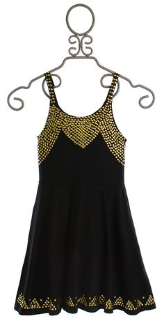 Flowers by Zoe Black Dress with Gold Studs for Tweens $82.00