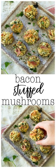 These Bacon Stuffed Mushrooms are the perfect app for your next party! Who doesn't love this cheesy and bacon filled deliciousness in the bite-sized perfection of mushroom caps?! AD