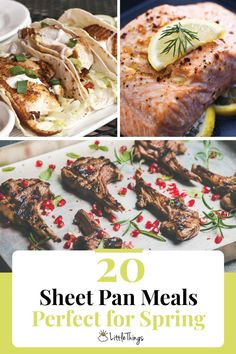 20 Sheet Pan Meals Perfect for Spring: Throw it all on a pan and call it a day with these simple and delicious sheet pan recipes.