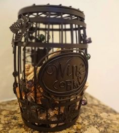 Wine cork holder...I want. Cute kitchen decor
